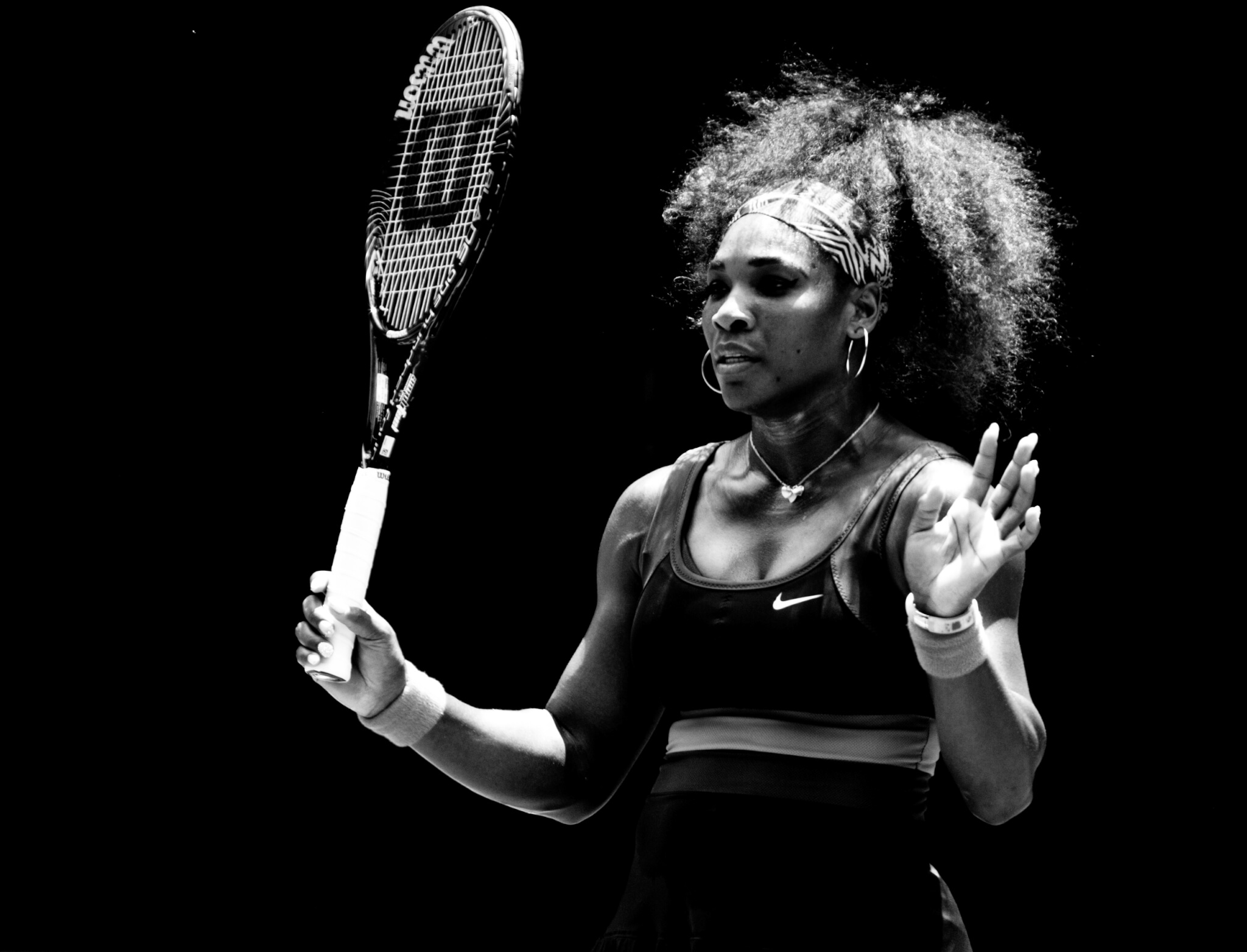 MELBOURNE – JANUARY 17: Serena Williams of the USAin her second