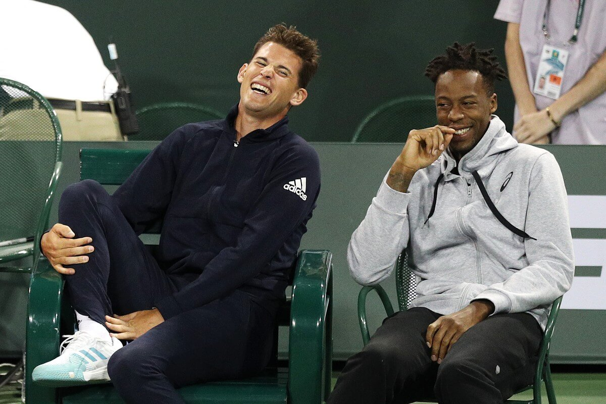 Domi and Gael laughing