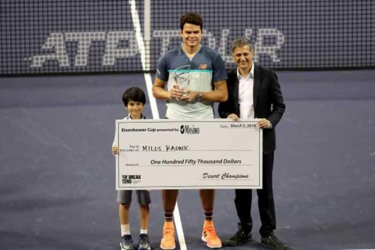 Raonic wins 2019 TB10 Indian Wells